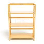 Kệ sách 3 tầng HB363 gỗ cao su màu tự nhiên 1