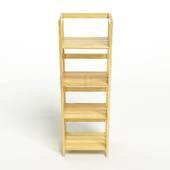 Kệ sách 4 tầng HB440 gỗ cao su màu tự nhiên 1