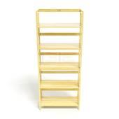 Kệ sách 5 tầng HB563 gỗ cao su màu tự nhiên 4