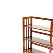 Kệ sách 5 tầng HB590 gỗ cao su màu cánh gián cận cảnh
