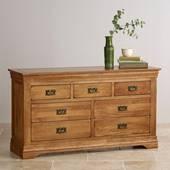 Tủ ngăn kéo gỗ sồi Mỹ French 7 ngăn