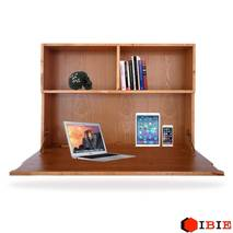 bàn gập treo tường liền giá sách veneer