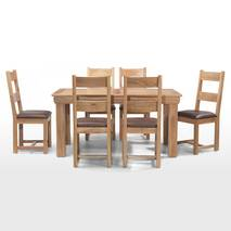 Bộ bàn ăn 4 ghế Victoria gỗ sồi 2