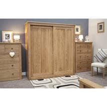 Tủ quần áo cửa lùa 2 khoang IBSD2O gỗ sồi 3