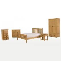 Tủ phòng ngủ Rustic 1 ngăn gỗ sồi