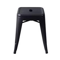Ghế đôn Tolix chân thấp 45cm màu đen 3