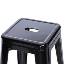 Ghế bar Tolix chân cao màu đen 3