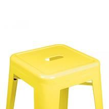 Ghế bar Tolix chân cao màu vàng 4