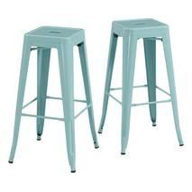 Ghế bar Tolix chân cao màu xanh ngọc 3