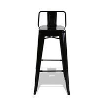 Ghế bar Tolix lưng thấp màu đen 2