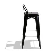 Ghế bar Tolix lưng thấp màu đen 4