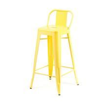 Ghế bar Tolix lưng thấp màu vàng 2