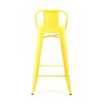 Ghế bar Tolix lưng thấp màu vàng 4