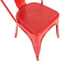Ghế tựa Tolix lưng cao màu đỏ 1