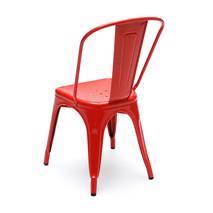 Ghế tựa Tolix lưng cao màu đỏ 3