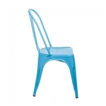 Ghế tựa Tolix lưng cao màu xanh 2