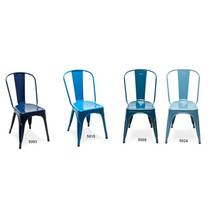 Ghế tựa Tolix lưng cao màu xanh 6