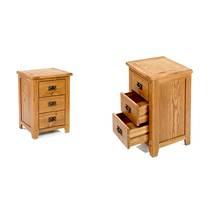 Tủ đầu giường Rustic 3 ngăn gỗ sồi 3