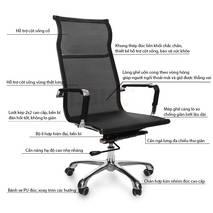 Mô tả ghế lưới IB811 chân hợp kim nhôm cao cấp màu đen