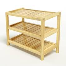 Kệ dép 3 tầng IB373 gỗ cao su 63x30x50 cm 2