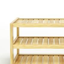 Kệ dép 3 tầng IB373 gỗ cao su 63x30x50 cm 3