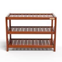 Kệ dép 3 tầng IB363 gỗ cao su 63x30x50 cm màu cánh gián 1