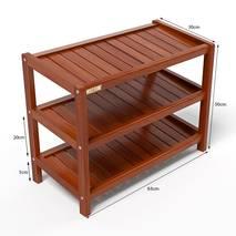 Kệ dép 3 tầng IB363 gỗ cao su 63x30x50 cm màu cánh gián kích thước