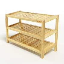 Kệ dép 3 tầng IB373 gỗ cao su 73x30x50 cm 1
