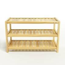Kệ dép 3 tầng IB373 gỗ cao su 73x30x50 cm 4