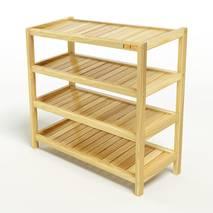 Kệ dép 4 tầng IB473 gỗ cao su 73x30x68 cm 1