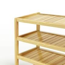 Kệ dép 4 tầng IB473 gỗ cao su 73x30x68 cm 2