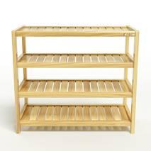 Kệ dép 4 tầng IB473 gỗ cao su 73x30x68 cm 4