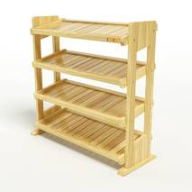 Kệ dép 4 tầng IB480 gỗ cao su 80x30x68 cm 1