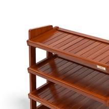 Kệ dép 4 tầng IB480 gỗ cao su 80x30x68 cm màu cánh gián 2