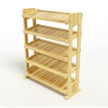 Kệ dép 5 tầng IB580 gỗ cao su màu tự nhiên 1
