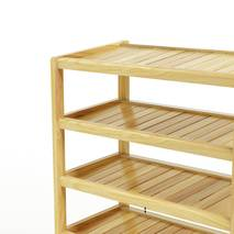Kệ dép 6 tầng IB673 gỗ cao su 73x30x105 cm 2
