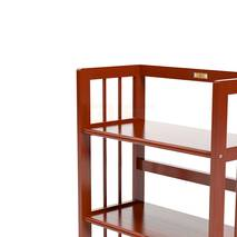Kệ sách 4 tầng HB463 gỗ cao su màu cánh gián 3