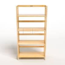 Kệ sách 4 tầng HB463 gỗ cao su màu tự nhiên kt