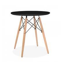Bàn tròn DSBàn tròn Eiffel đen chân gỗ 2
