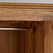 Tủ áo Pano 4 cánh gỗ sồi góc