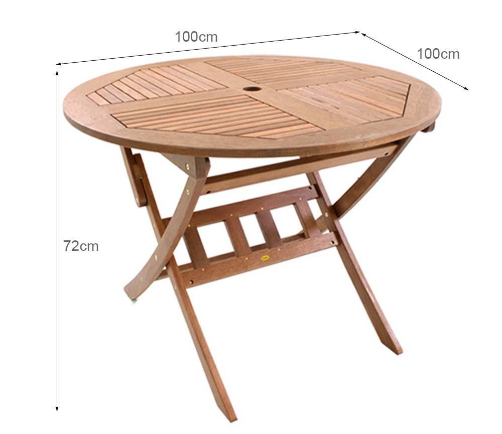 Kích thước bàn xếp tròn Punai