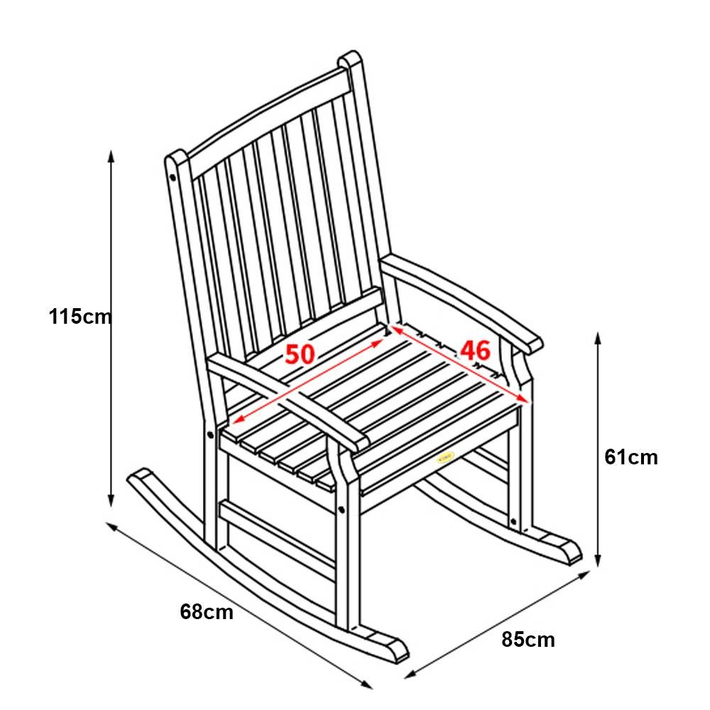 Kích thước ghế bập bênh Pongkar