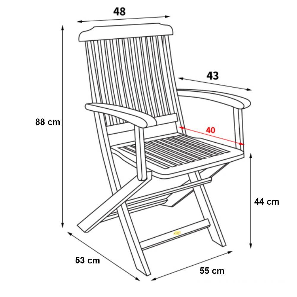 Kích thước ghế xếp Pongkar
