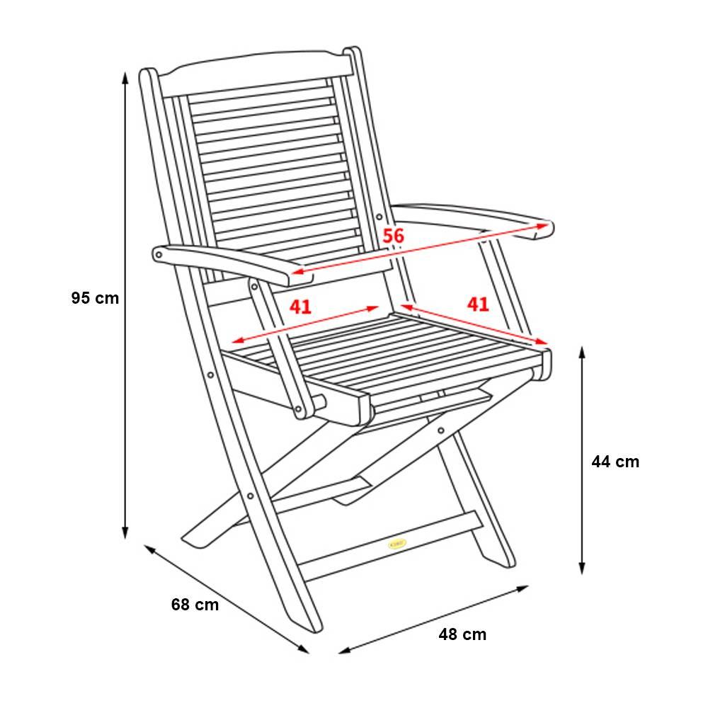 Kích thước ghế xếp Carocok