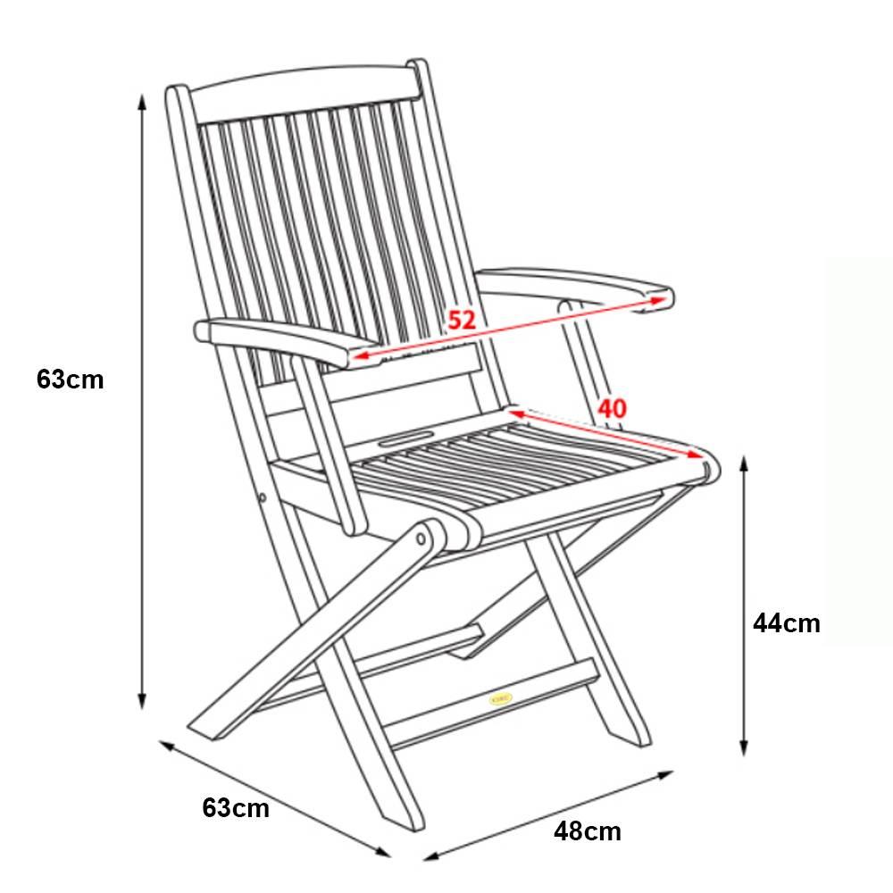 Kích thước ghế xếp Bungus