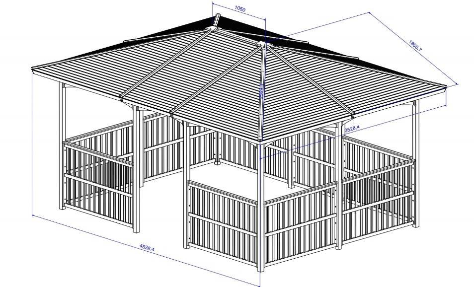 Kích thước nhà lều Thủy Tú