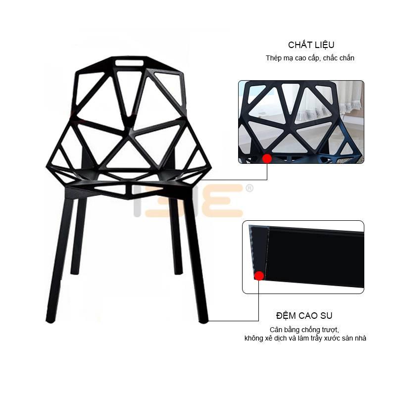 Ghế café IB136 chân sơn tĩnh điện