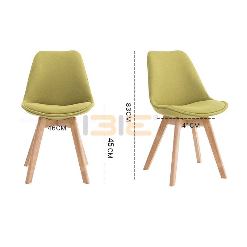 Ghế Eames mặt nệm chân gỗ nhiều màu