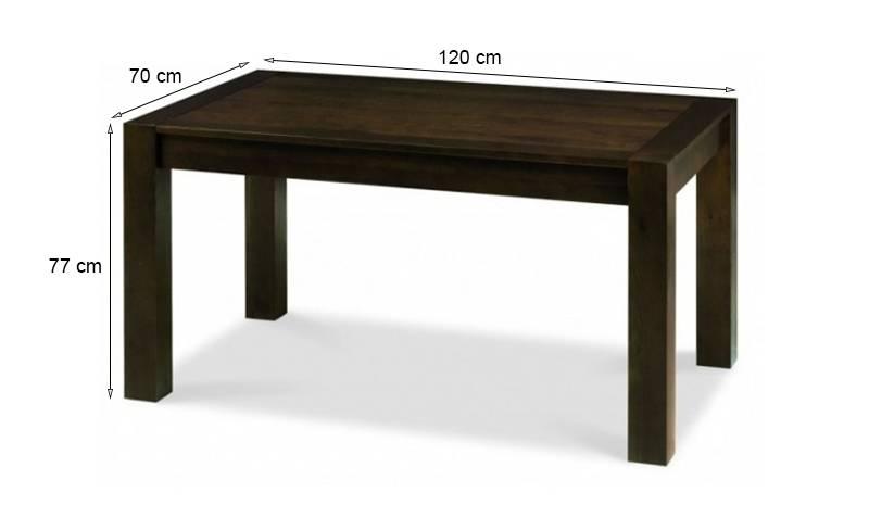 kích thước bàn ăn Lyon gỗ óc chó
