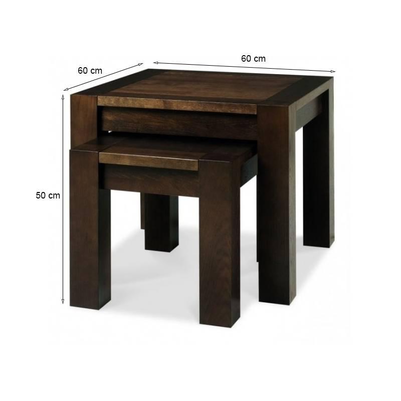 Kích thước bộ bàn xếp lồng Lyon gỗ óc chó
